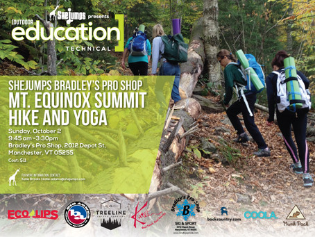 Oct 2 Mt. Equinox Summit Hike and Yoga from Bradley's Pro Shop, Manchester, VT