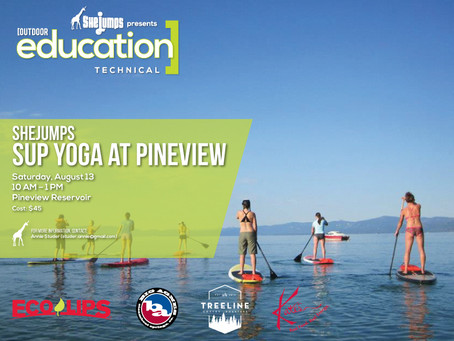 SheJumps SUP Yoga at Pineview Reservoir