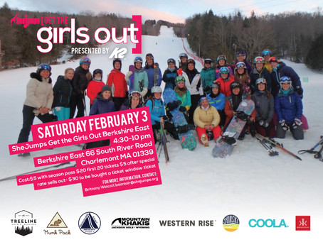 SheJumps Get The Girls Out Berkshire East MA Feb 3rd