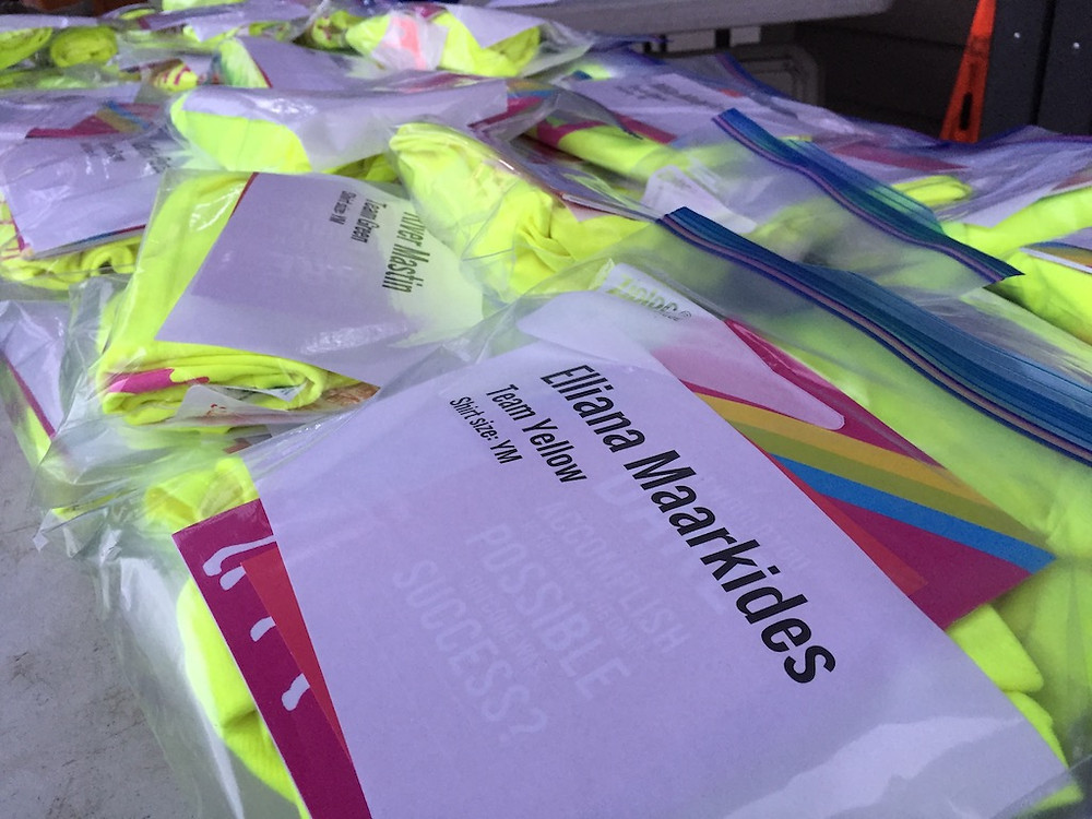 Registration Packets - each one with a personalized welcome note from volunteers.