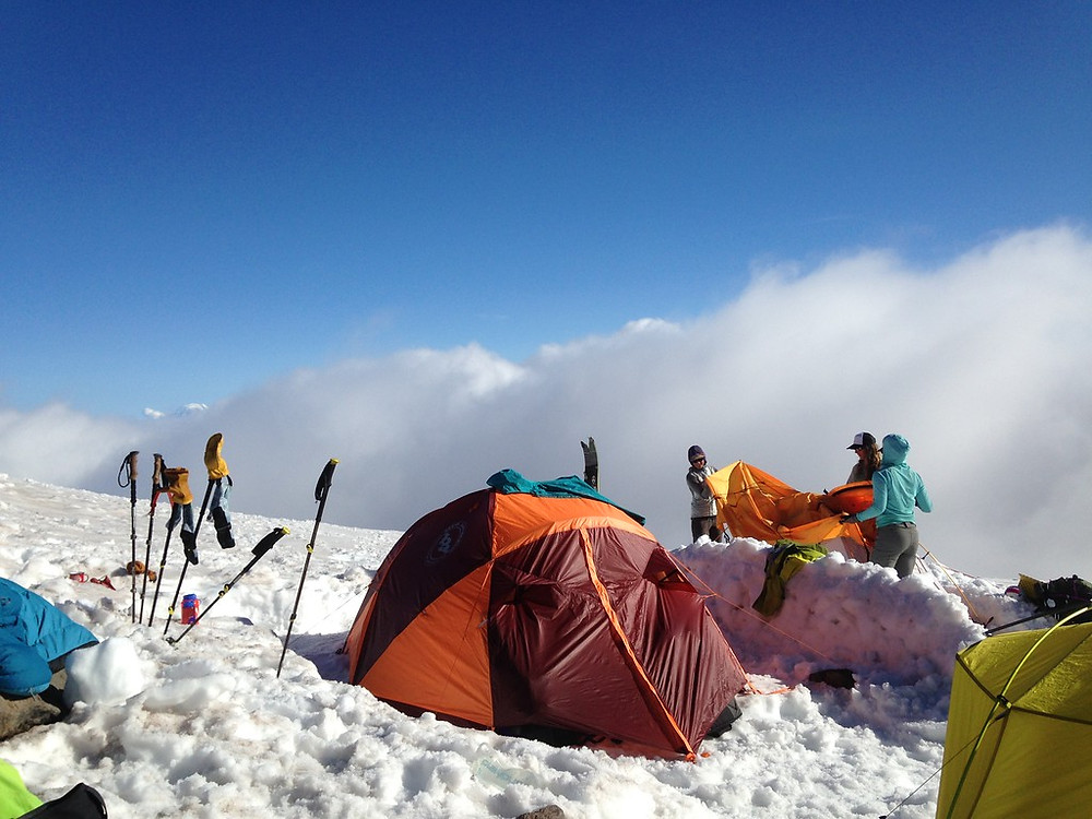 Big Agnes Tent above clouds