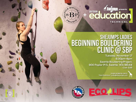SheJumps Ladies Beginning Bouldering Clinic @ SBP