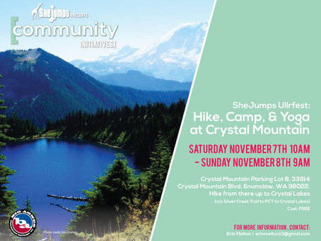 SheJumps Ullrfest: Hike, Camp, and Yoga at Crystal Mountain