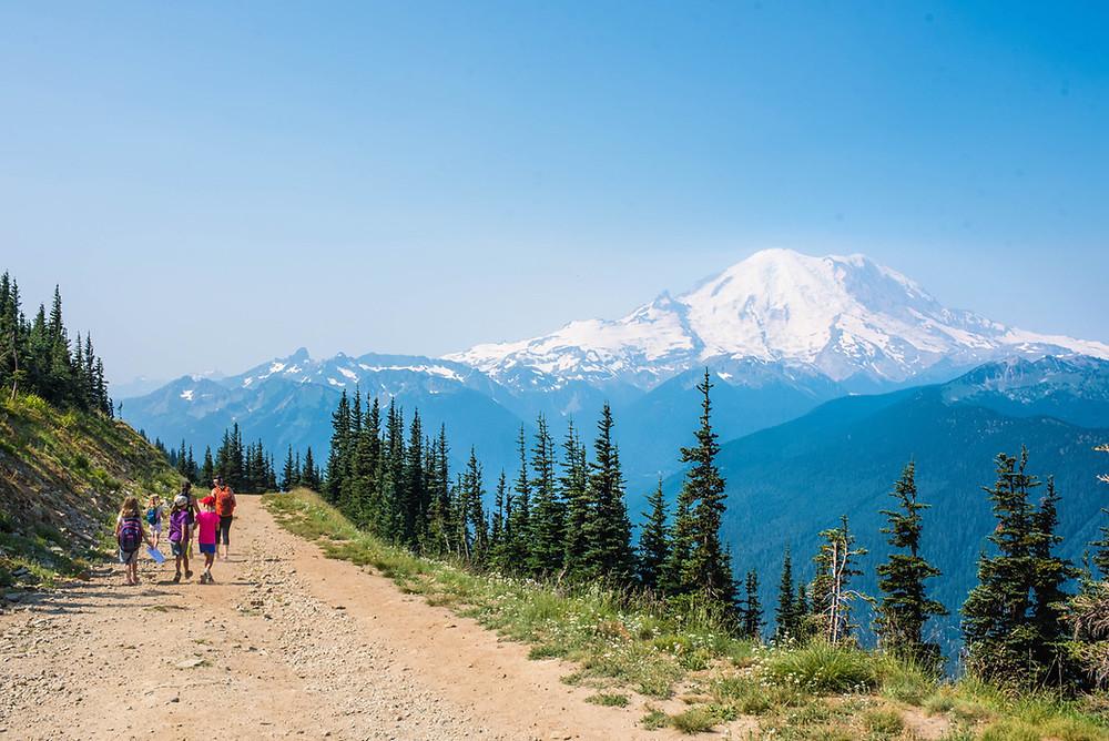 Mt. Rainier is all her beauty.