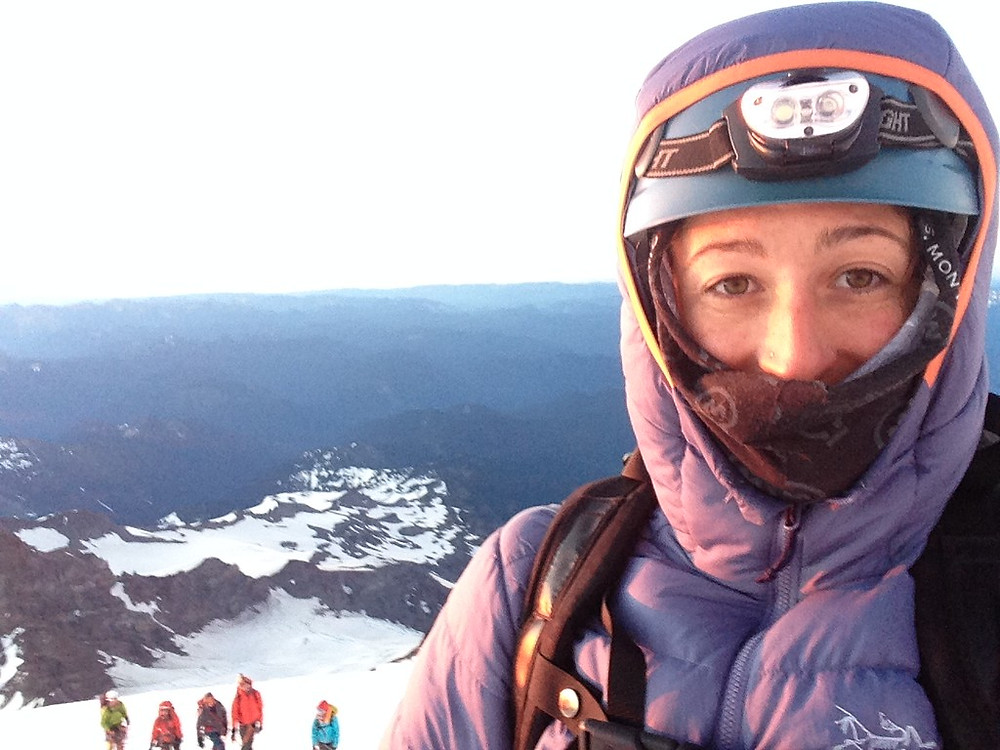 Kristina Whitlow Climb Selfie
