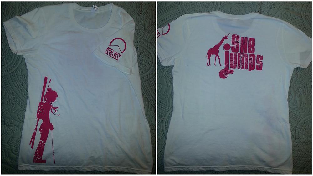 Custom shirts for Big Sky Lady Shred, provided by Big Sky Shirt Co.