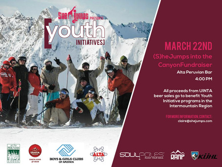 (S)heJumps into the Canyon: Fundraiser March 22nd for Youth Programming