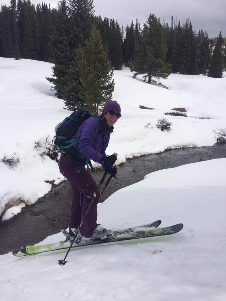 Emma enjoys adventuring on her skis in the Teton backcountry