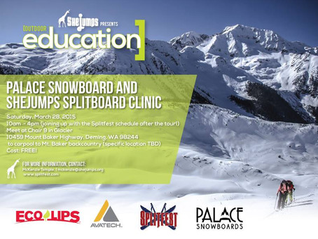 Palace Snowboards and SheJumps Splitboard Clinic