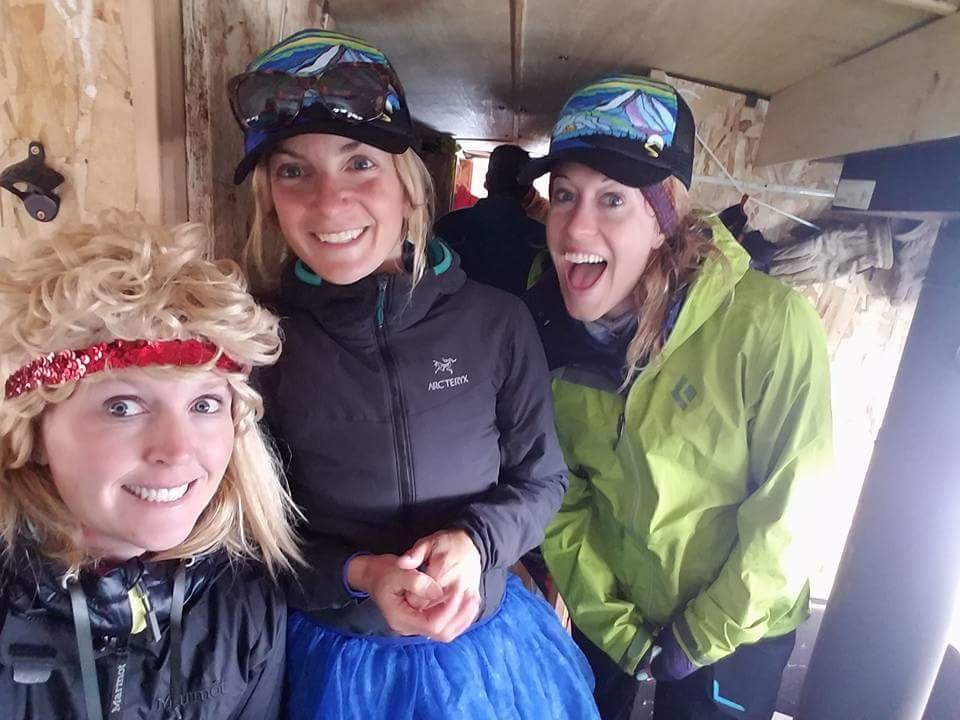 A few of the ladies enjoying their time on the Sego Skis bus.