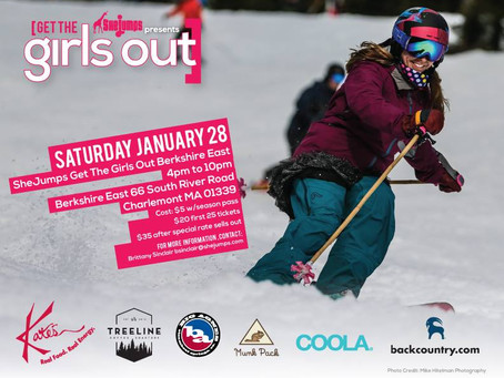 SheJumps Get The Girls Out Berkshire East MA January 28th