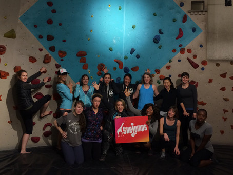 SheJumps Ladies Beginning Bouldering Clinic @ SBP – Recap