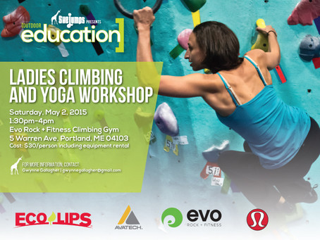 May 2nd Ladies Climbing and Yoga Workshop Portland ME
