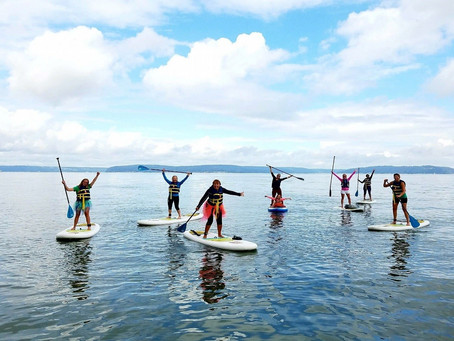 SheJumps Into SUP Yoga Along The Ruston Way In Tacoma – Recap