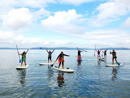 SheJumps Into SUP Yoga Along The Ruston Way In Tacoma – Recap