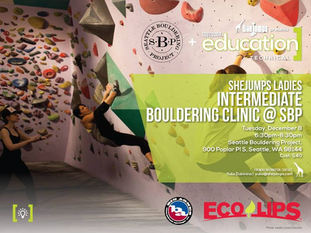 SheJumps Ladies Intermediate Bouldering Clinic @ SBP