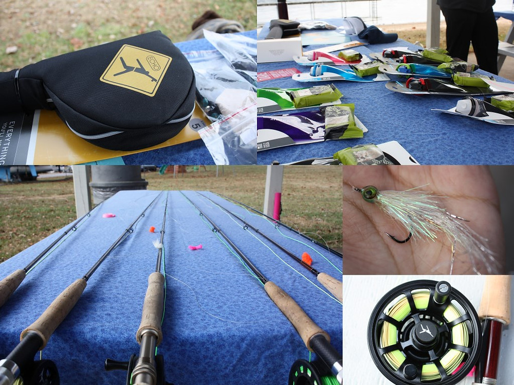 After lunch, it was time to grab our gear and head out for some practice casting.