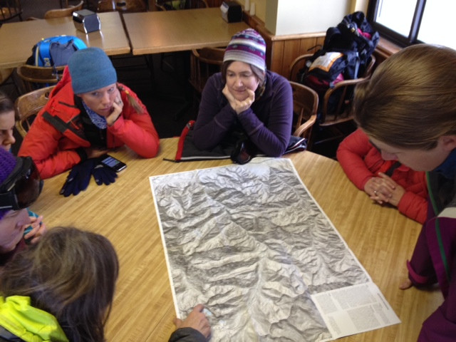 It's always important to map out your route before setting out into the backcountry!