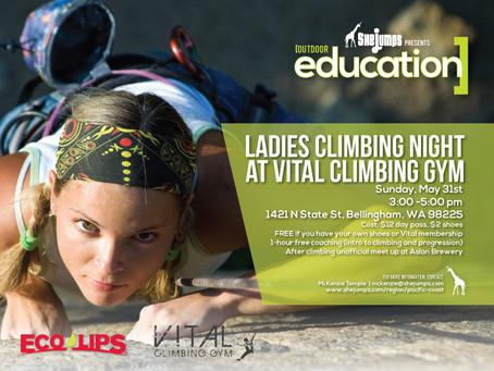 Ladies Climbing Night at Vital – Bellingham