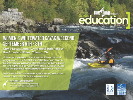 Women's Whitewater Weekend! Coloma, California