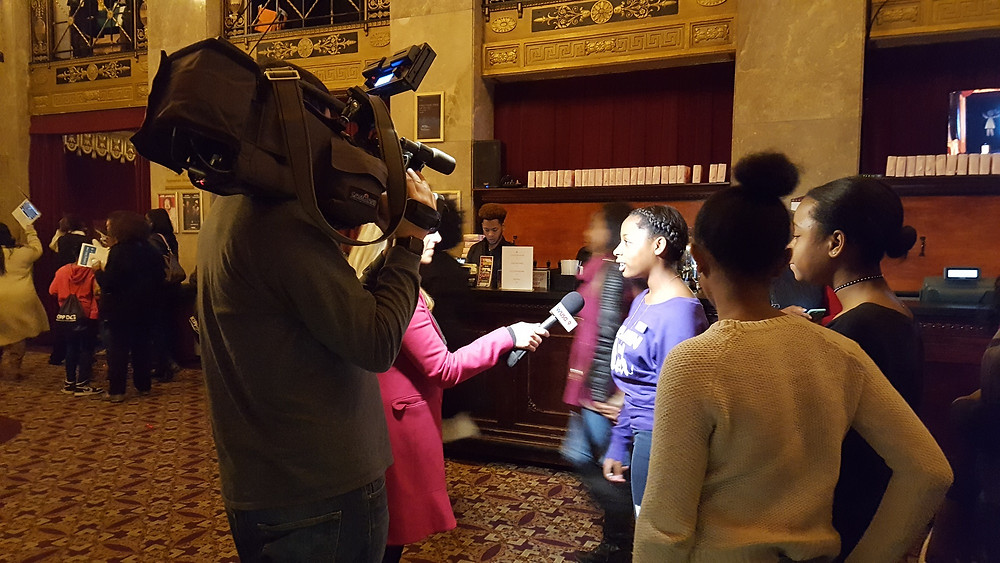 We had a first row seat to one of the attendees getting interviewed for the news - she did great!