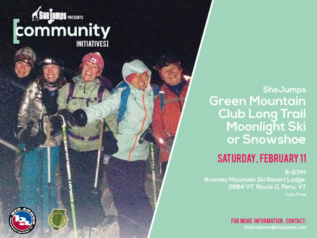 Feb 11 GMC Long Trail Moonlight Ski and Snowshoe, Peru VT