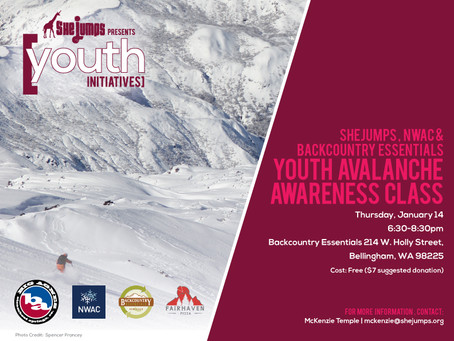 SheJumps, NWAC and BCE Youth Avalanche Awareness Class