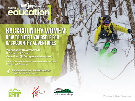 Backcountry Babes Event at The Outdoor Gear Exchange