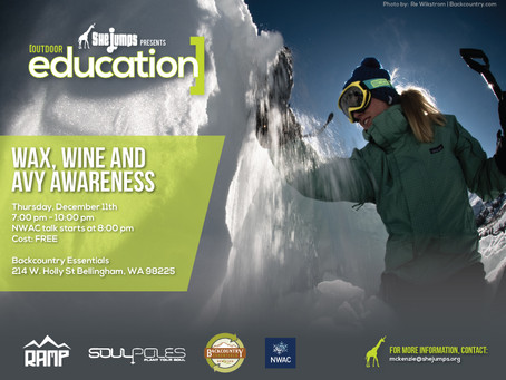 Wax, Wine and Avalanche Awareness in Bellingham, WA