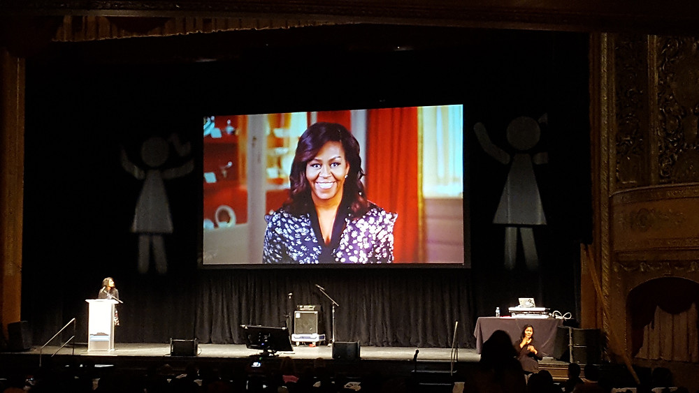 The day opened with a welcome message from First Lady Michelle Obama.