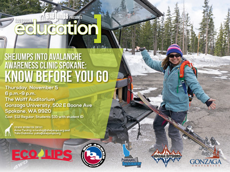 SheJumps Into Avalanche Awareness Clinic Spokane: Know Before You Go