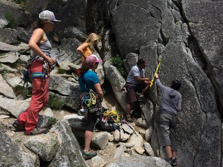 SheJumps AMGA Single Pitch Rock Climbing Instructor Course – Recap