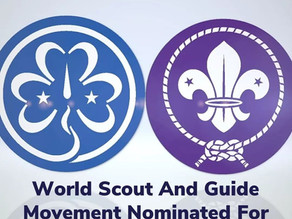 SCOUTING AND GUIDING NOMINATED FOR NOBEL PEACE PRIZE!