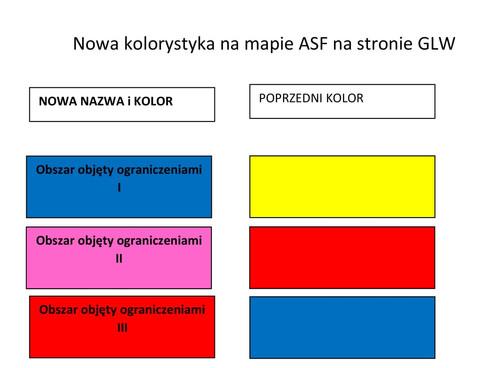 Nowe kolory na mapach ASF