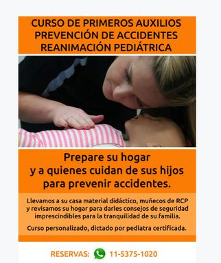 Curso de Primeros Auxilios y Prevención de Accidentes en Pediatria