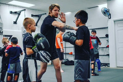 Kids Striking class learning from a weal