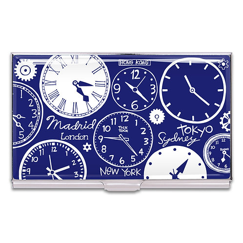 ACME NANCY WOLFF DESIGNED CLOCKS CARD CASE