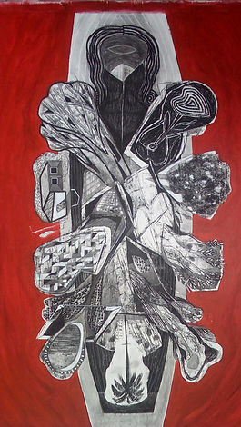 Serie Los Emigrantes III, acrílico-carboncillo sobre tela, 151.5cm.x 92cm.  2016 (3).jpg