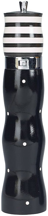 """PEPPER MILL TULIP COMBO 12"""" WOOD BLACK AND WHITE"""