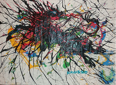 ST I  51 x 71 cm, Acrílico sobre tapiz,