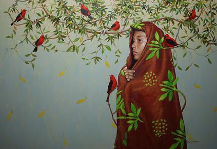 KANSUET, (Panamá), Pájaros, 99.5 x 149