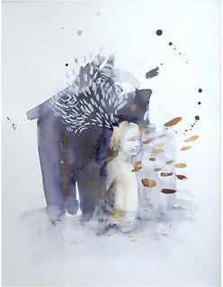 Pensamiento Pluma, 40 x 30 cm, grafito,