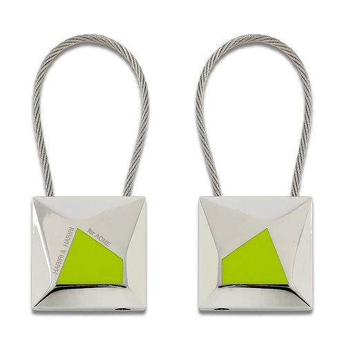DESIGN CRYSTALLINE KEY RING (2 SIDED)