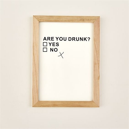 ARE YOU DRUNK? SIGN