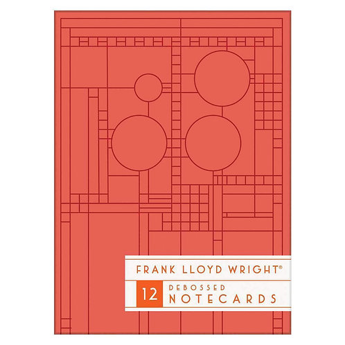 FRANK LLOYD WRIGHT -  BRIGHT GEOMETRIC DEBOSSED NOTECARDS