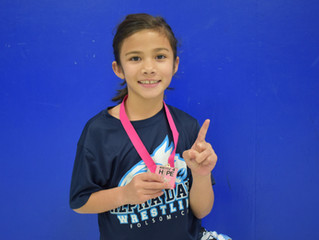 Pia Hill Earns First Place at Wrestle 4 Hope In Napa