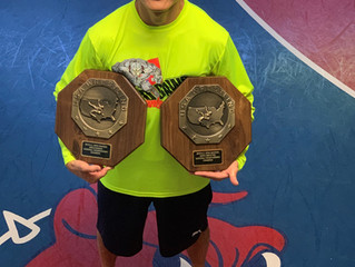 Coach Yi Wins Veterans National Champion Titles in Freestyle and Greco