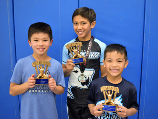 NorCal Elementary State Champs:  Jordan Yi, Orion Hill and Nox Cruzat