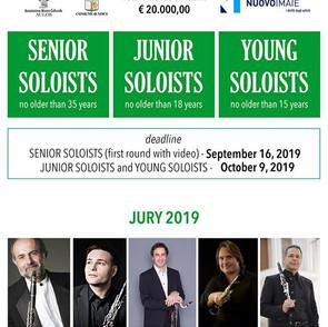 Saverio Mercadante: aperte le iscrizioni per la 15a edizione del concorso internazionale di clarinet