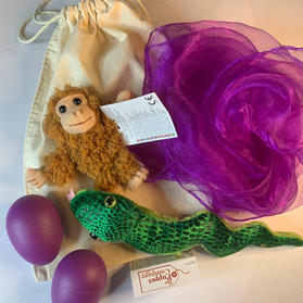 Monkey and Snake Story Bag Purple £12.99